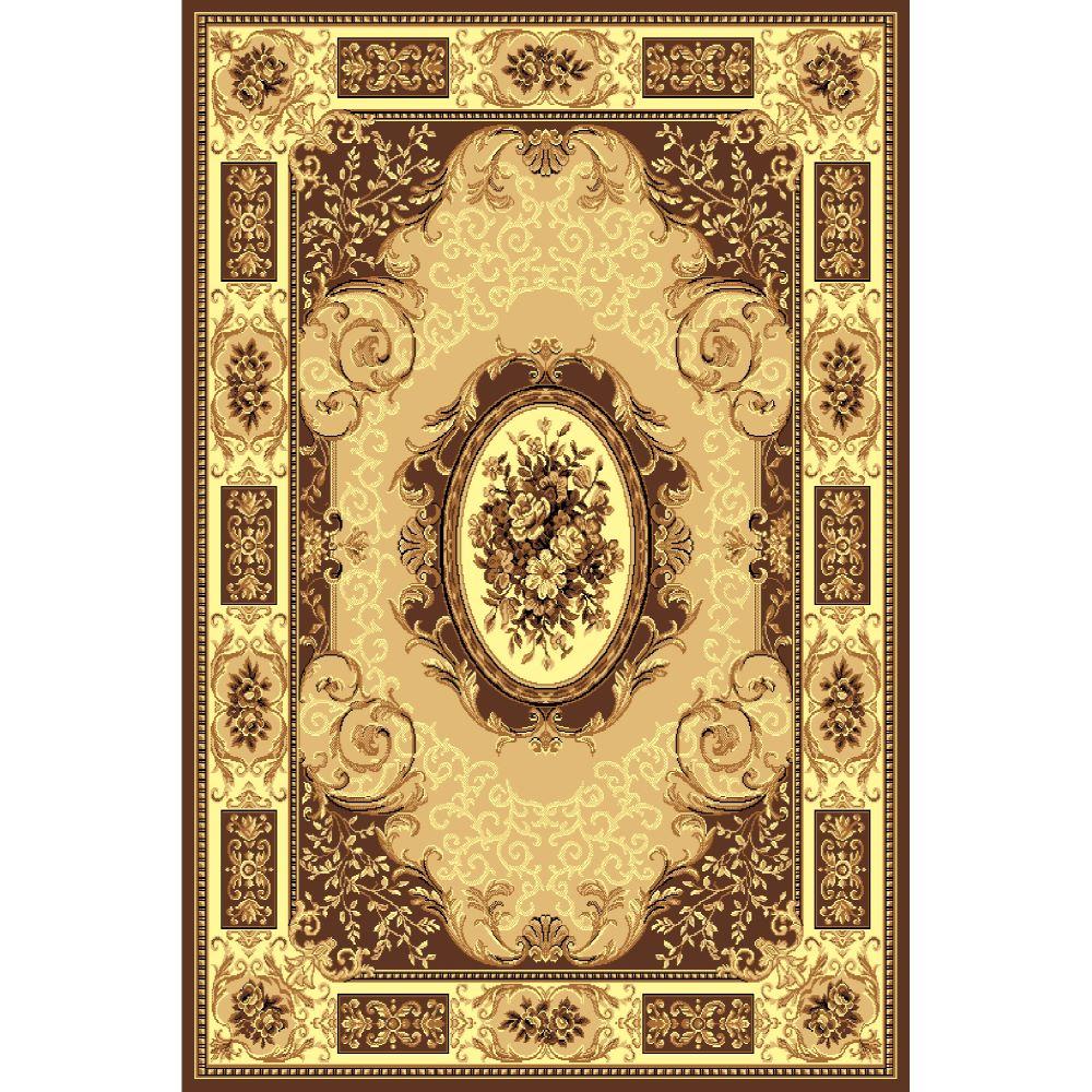 Covor clasic Gold 242/12, polipropilena BCF, bej-maro, 100 x 200 cm mathaus 2021