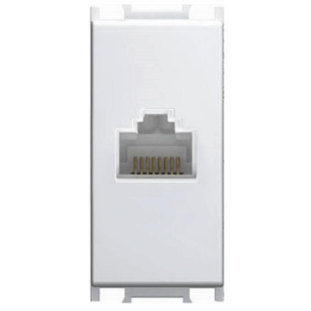 Priza date categoria 5 Modul, 1 m, alb imagine 2021 mathaus