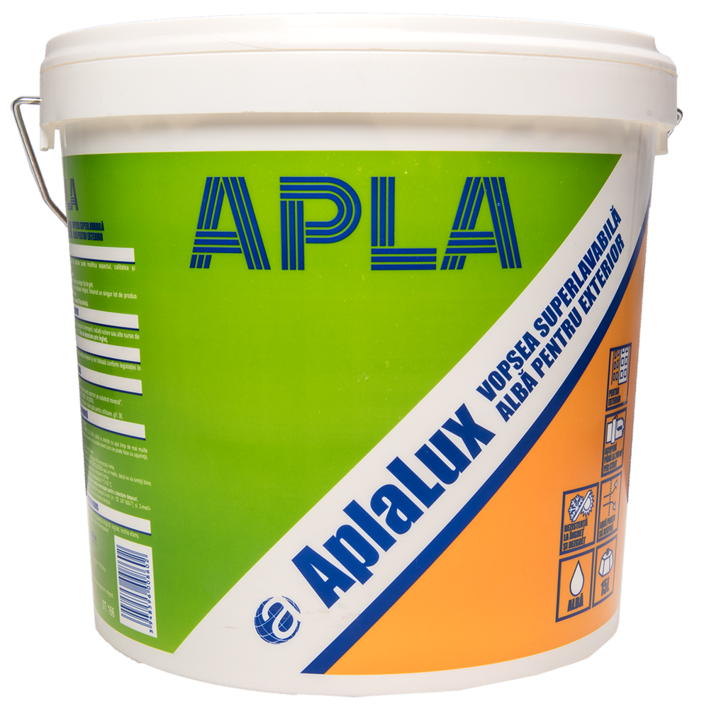 Vopsealavabila exterior Aplalux alba 15 L