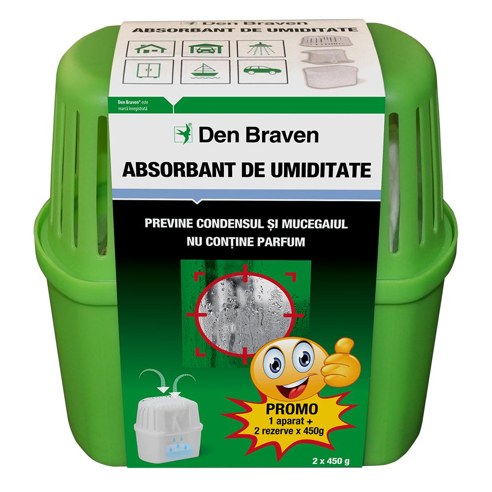 Dezumidificator/ aparat absorbtie umiditate Den Braven Clasic, plastic, verde, 450 g imagine 2021 mathaus