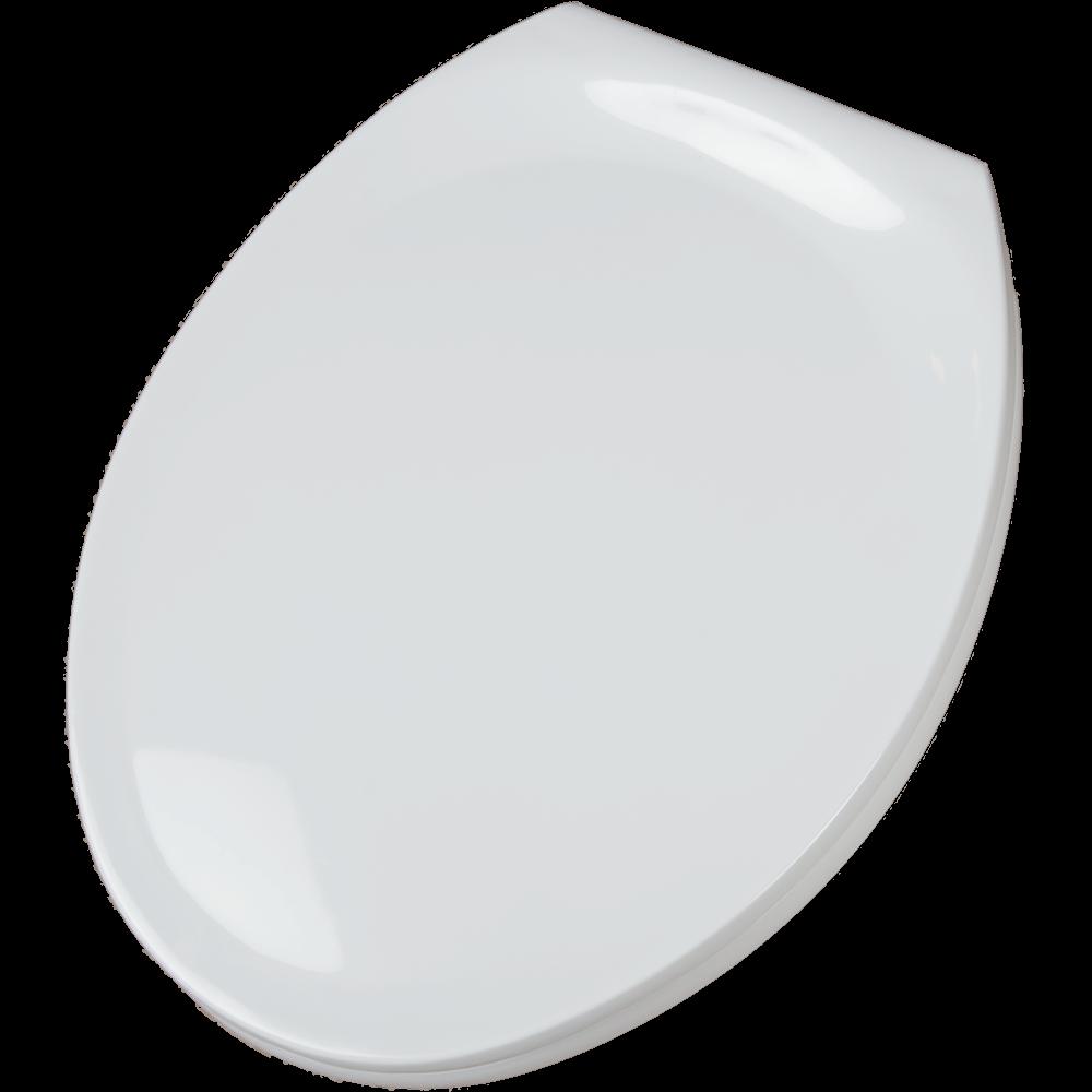 Capac WC antibacterian, plastic, alb, 38 x 47 x 5 cm
