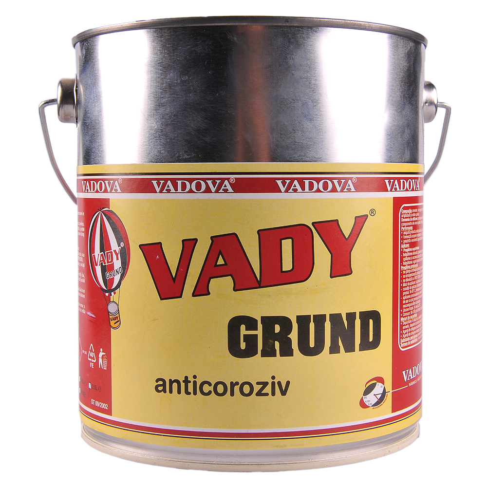 Grund pentru metal Vady, interior/exterior, rosu oxid, 2.5Kg