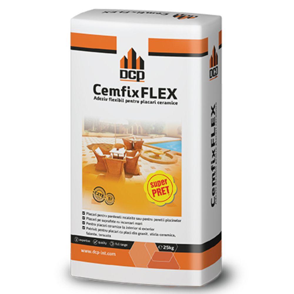 Adeziv flexibil pentru piatra naturala si placari ceramice, Cemfix Flex gri, 25 kg mathaus 2021