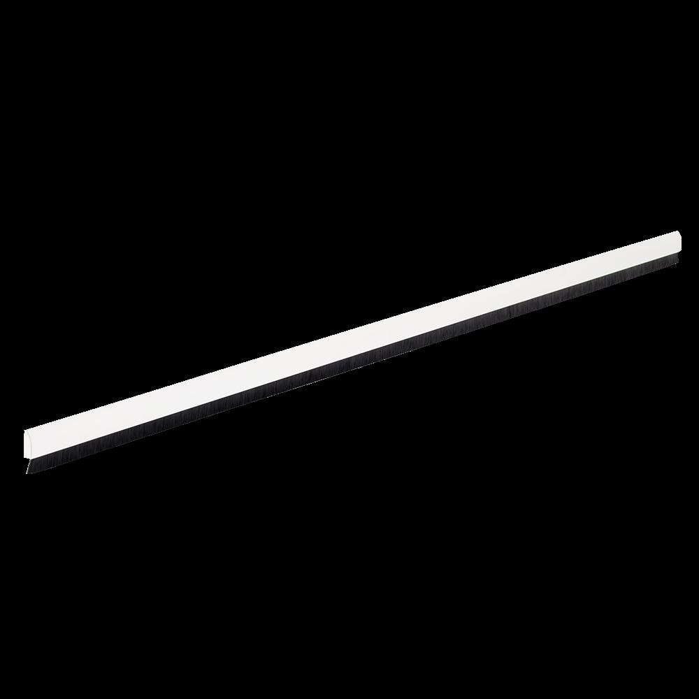 Prag izolator Geko Aluflex, aluminiu + PVC, perie nylon, alb