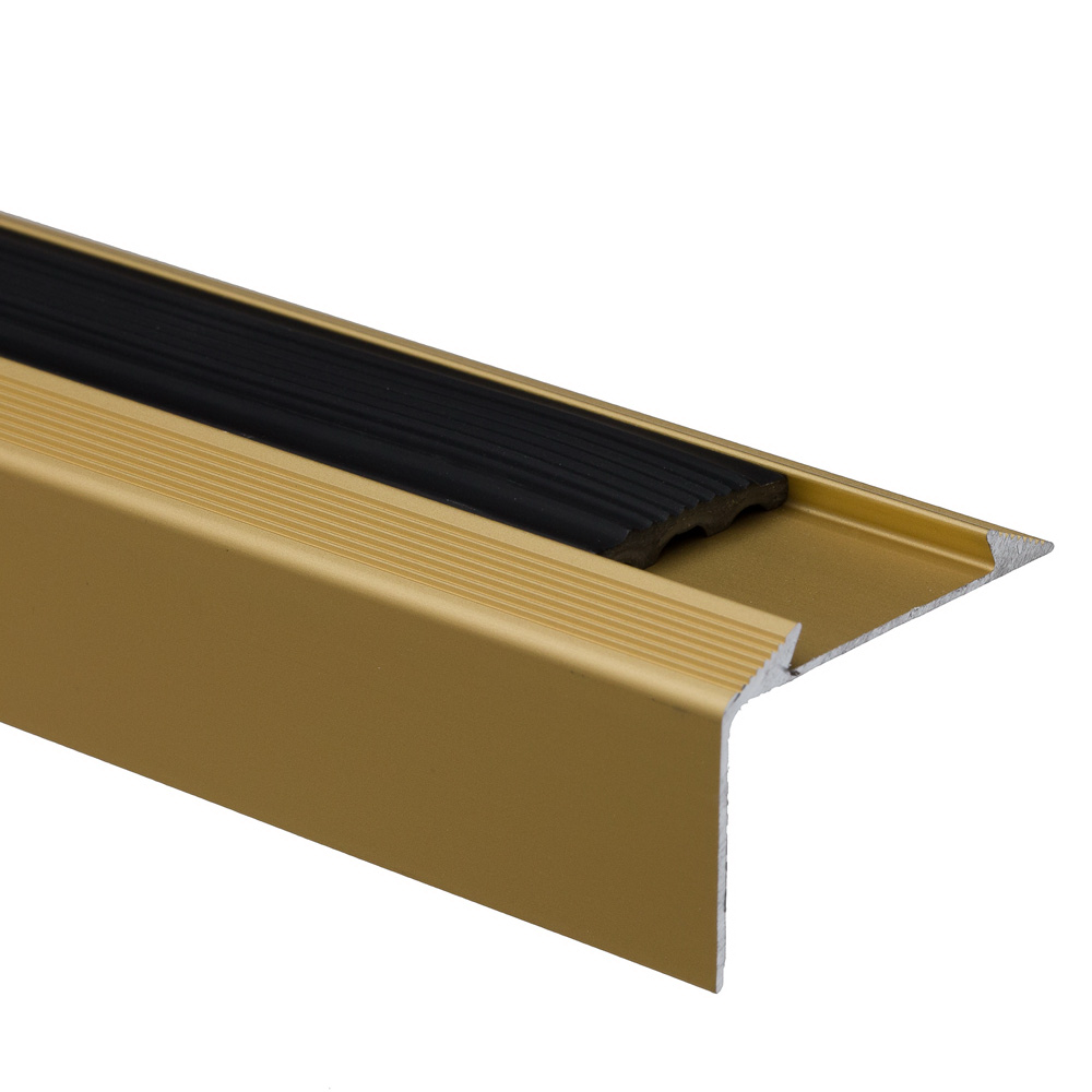 Profil de treapta cu banda antiderapanta S38, auriu, 46 mm x 0,93 m imagine 2021 mathaus