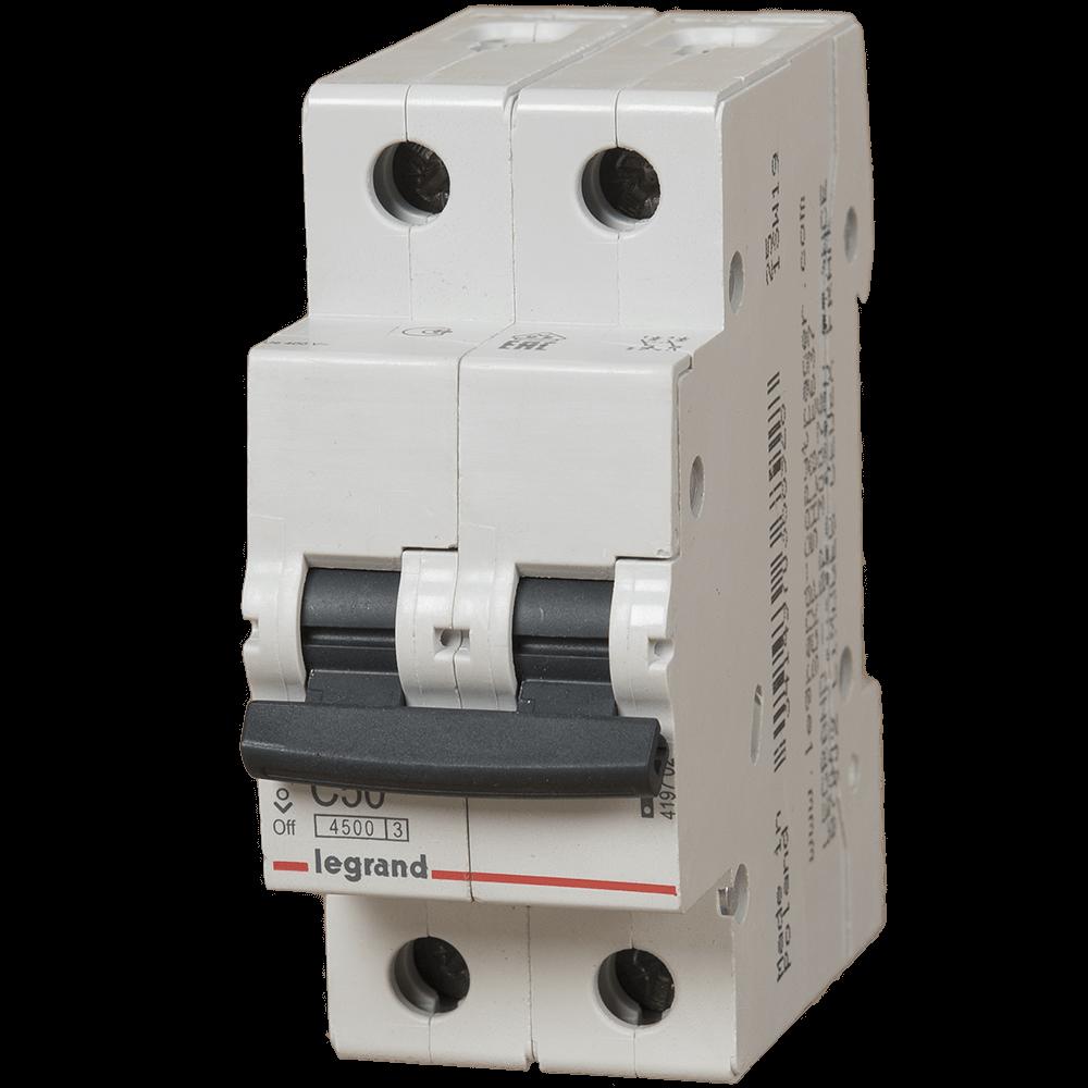 Disjunctor magneto-termic Legrand 419702 , 2 P, 50 A, 4.5 KA imagine MatHaus.ro