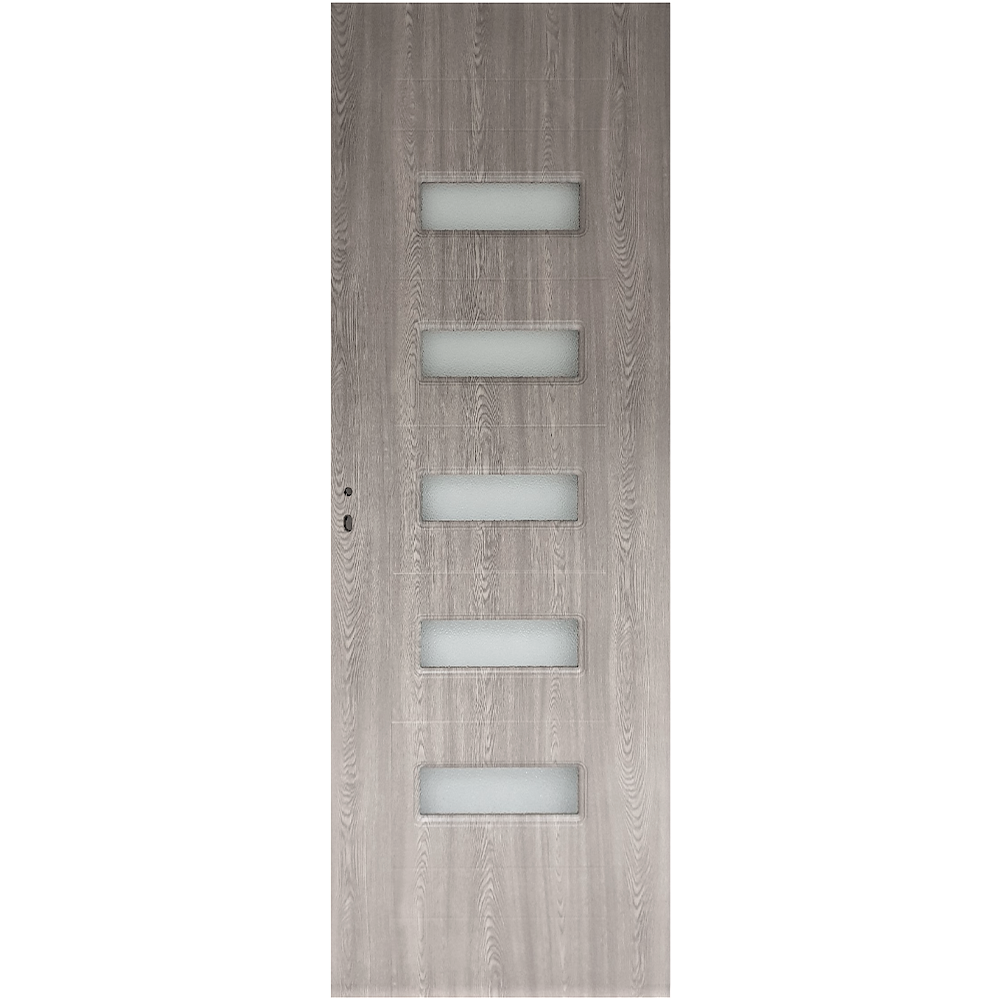Usa interior cu geam Pamate M104, gri, 203 x 80 x 3,5 cm + toc reglabil, reversibila imagine 2021 mathaus