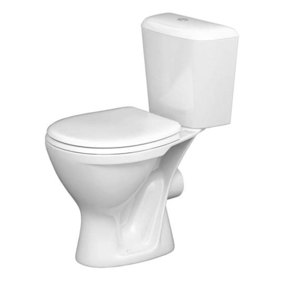 Vas WC cu rezervor si capac Roca, portelan, evacuare laterala, alb imagine MatHaus.ro