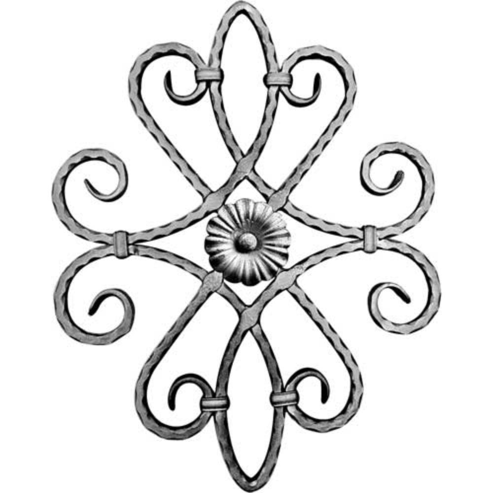 Ornament central, 540 x 425 x 12 x 12 mm