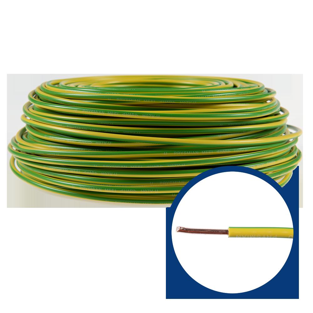 Cablu electric FY/ H07V-U 6 mm galben - verde