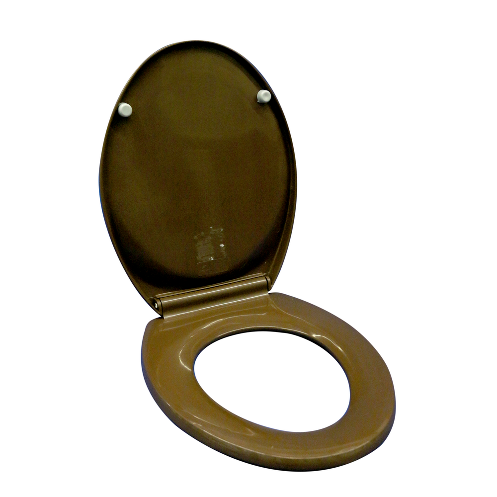Capac WC Club 40, polipropilena, maro wenge, 46x22,5x37,5 cm