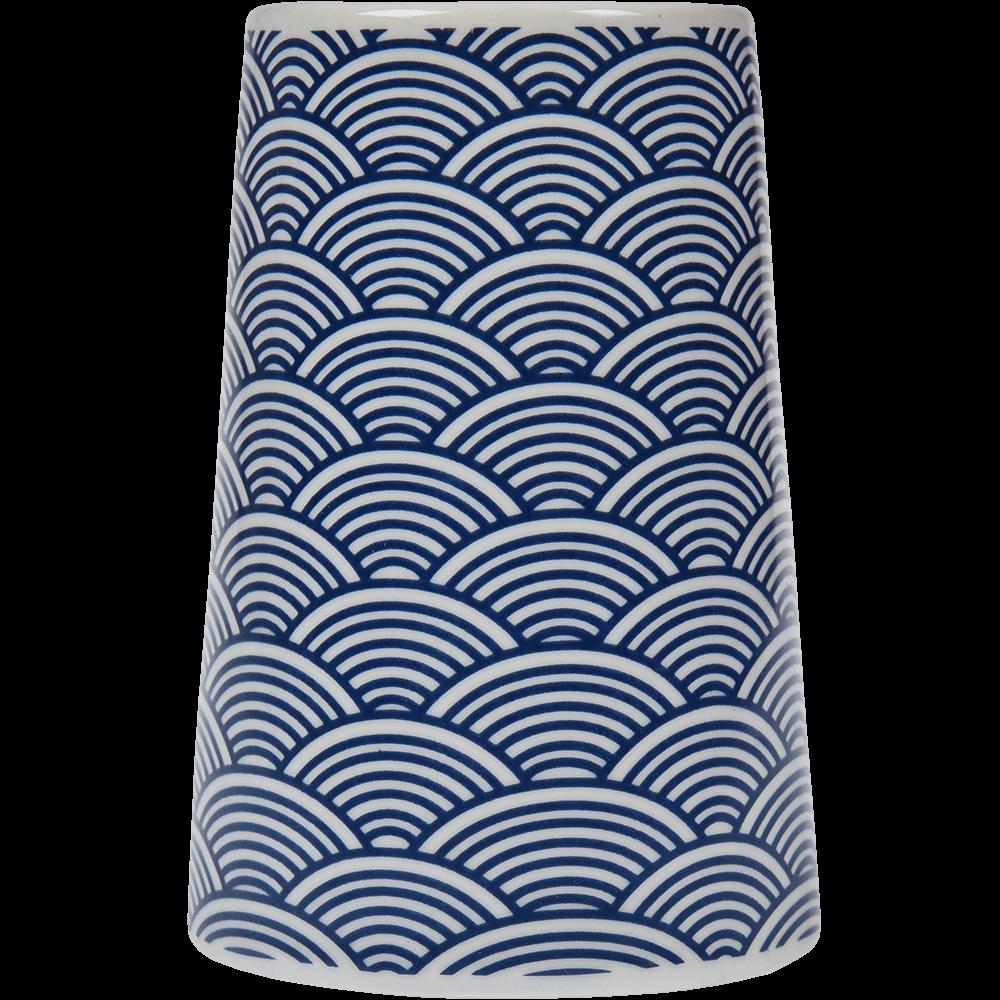 Pahar de baie Romtatay Bento, ceramica, bleu, 7.5 x 7.5 x 11 cm imagine 2021 mathaus