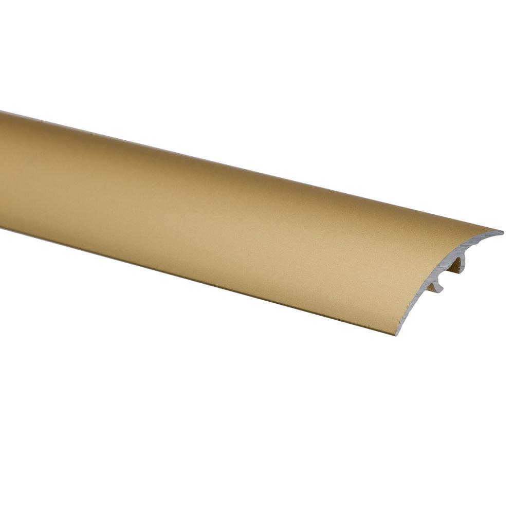 Profil de trecere cu surub mascat S66, fara diferenta de nivel, Effector, auriu, 0,93 m imagine MatHaus.ro