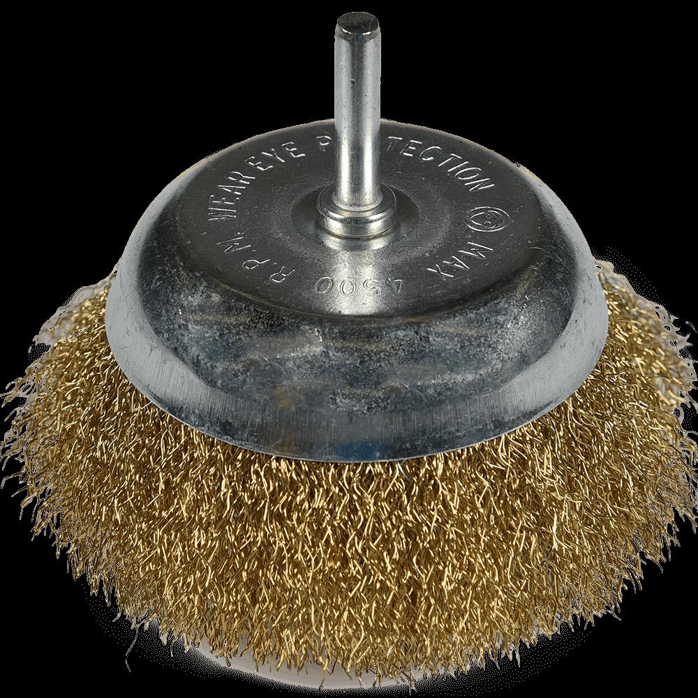 Perie circulara rotativa cu tija din otel, pentru bormasina, 4/100 mm