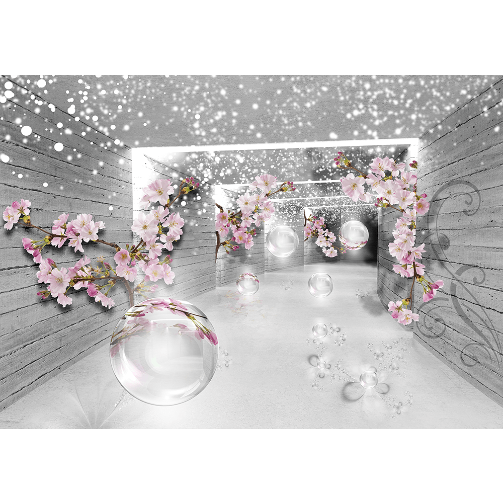 Fototapet duplex 3D Flowers, 368 x 254 cm imagine MatHaus.ro