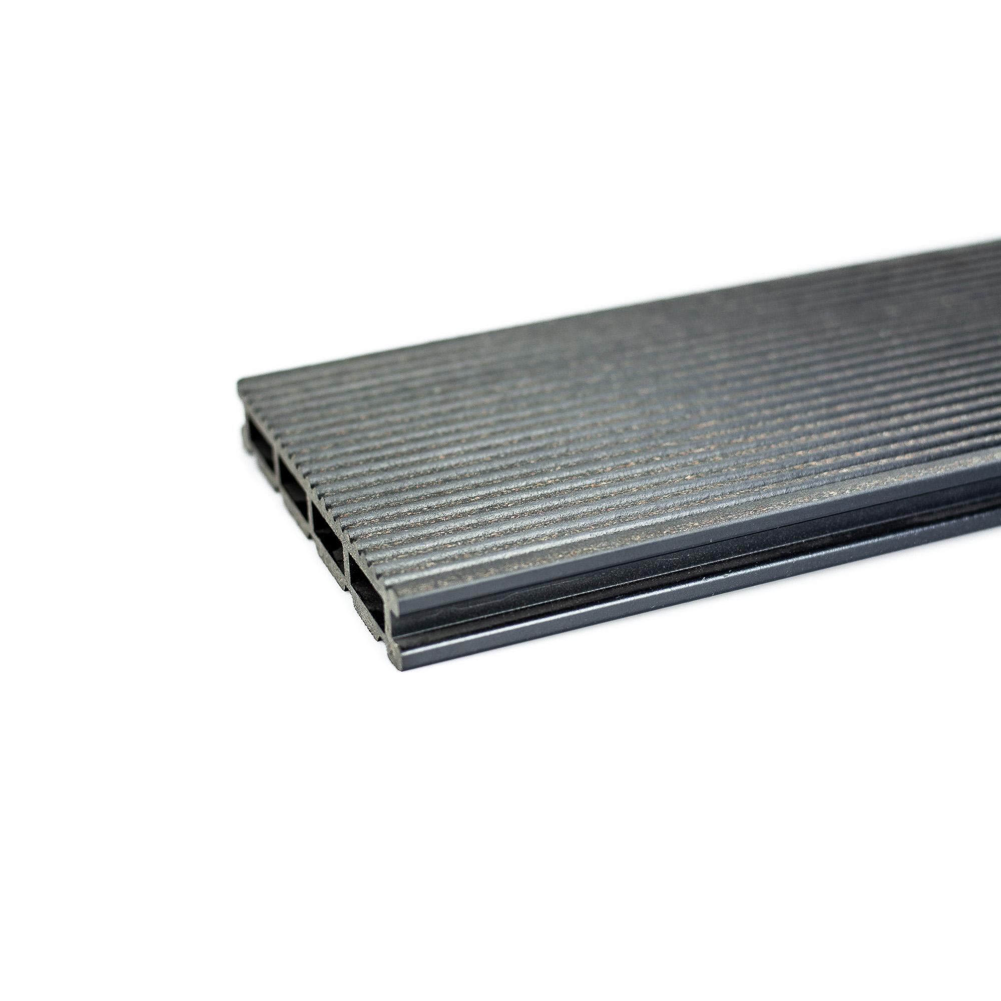 Profil pentru terasa WPC, gri, 21 x 140 x 2400 mm
