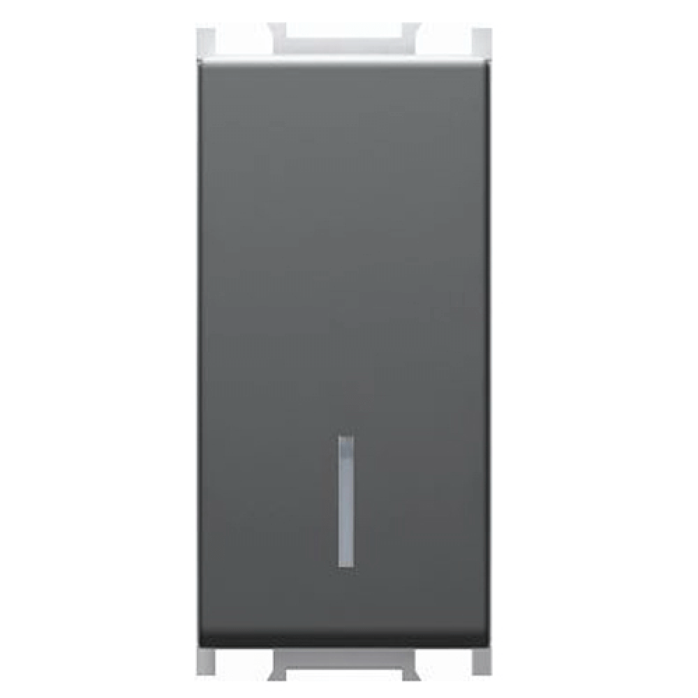 Intrerupator monopolar Modul 16AX, 250V, negru 1M imagine 2021 mathaus