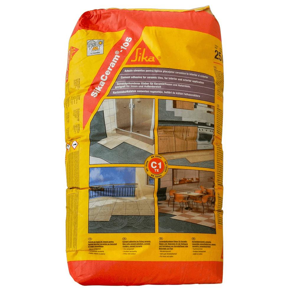 Adeziv semiflexibil pentru placari ceramice, Sika Ceram-105, gri, 25 kg mathaus 2021