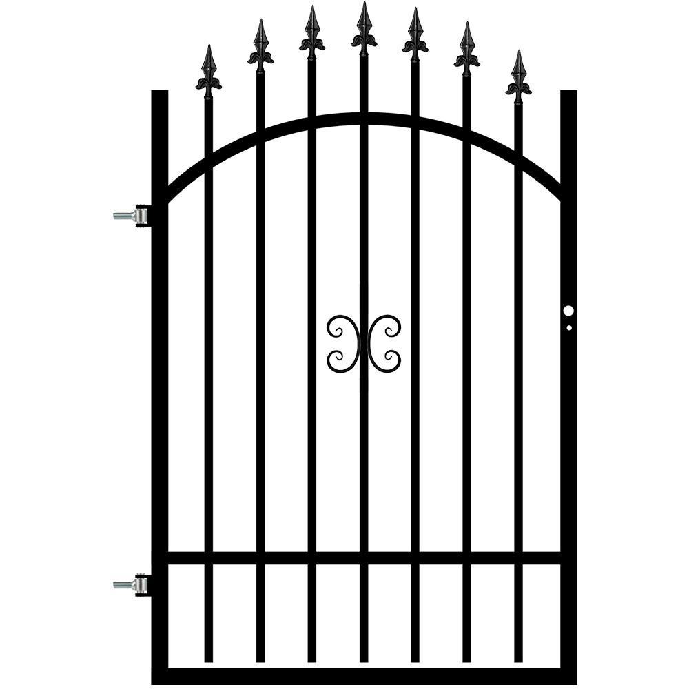 Poarta cu deschidere stanga Tina, otel, RAL9005,  0,9 x 1,3 - 1,5 m imagine MatHaus