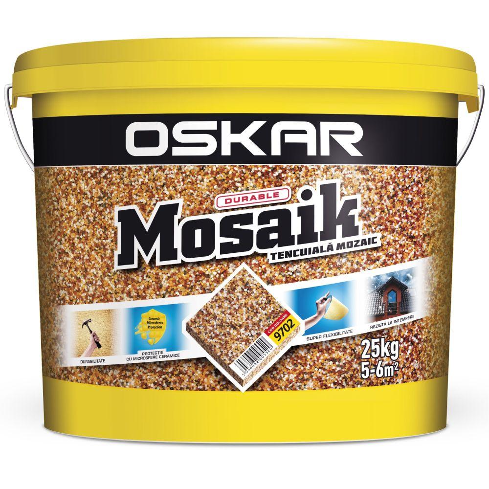 Tencuiala decorativa de tip mozaic Oskar 9702, 25 kg