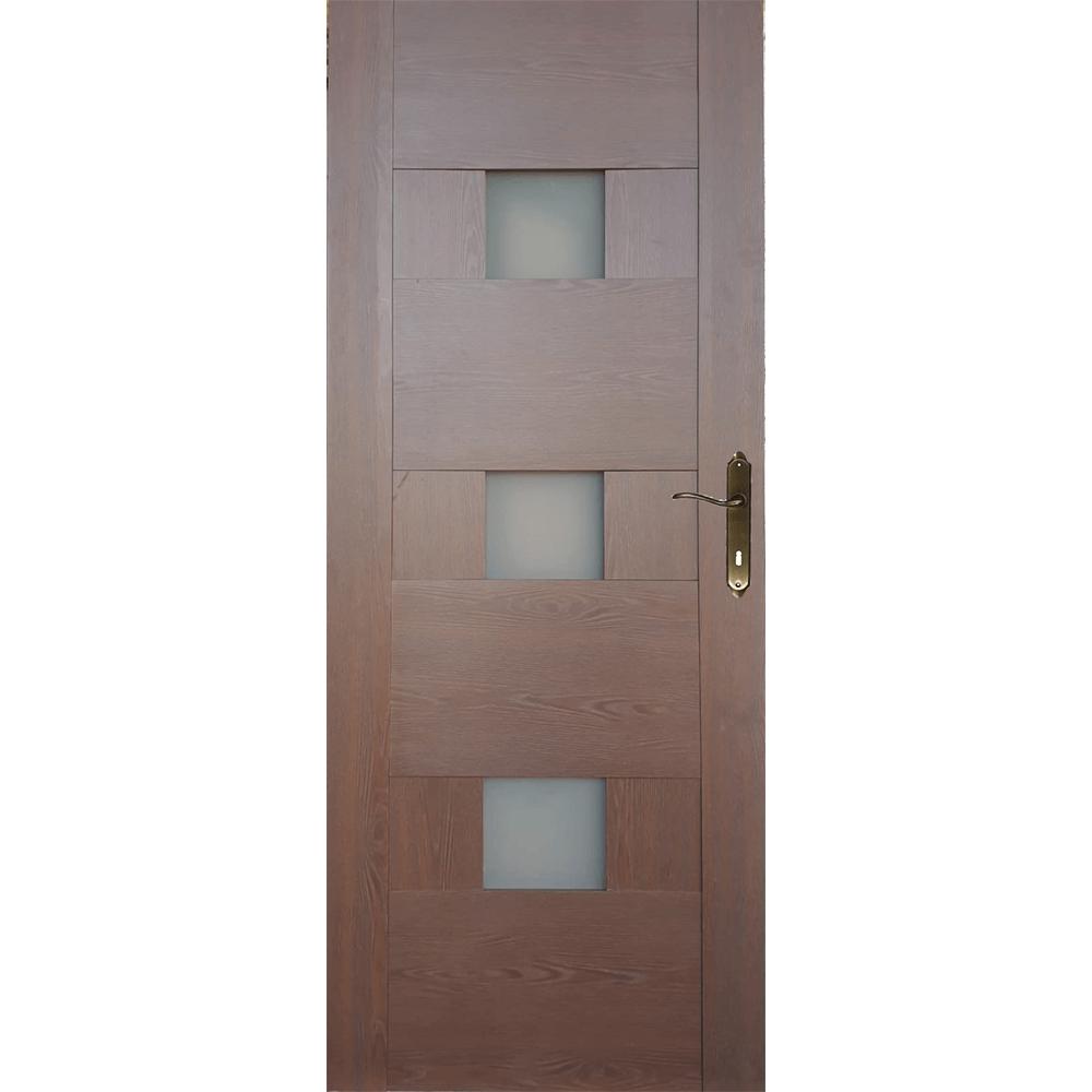 Usa interior cu geam M103, stejar auriu, 200 x 70 cm + toc 10 cm mathaus 2021