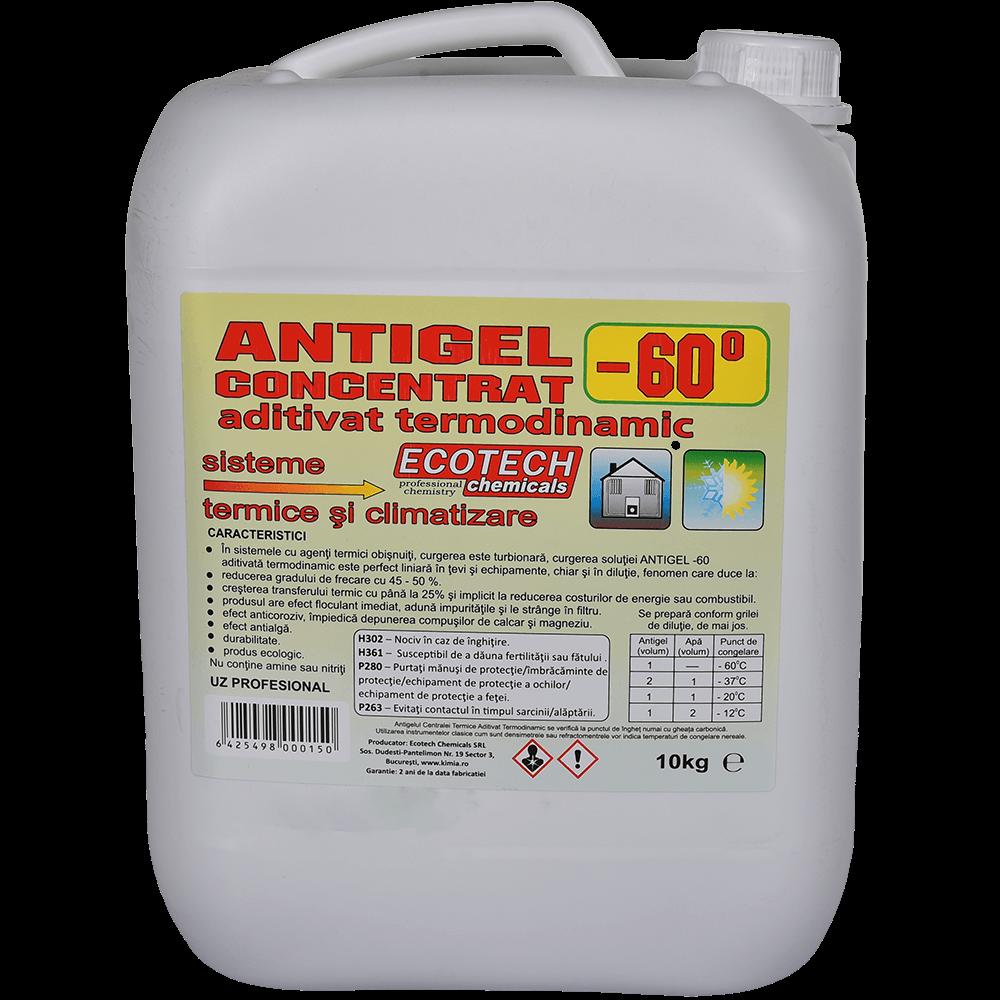 Antigel concentrat Ecotech Chemicals, pentru centrale termice, aditivat termodinamic, - 60 C, 10 kg imagine MatHaus.ro