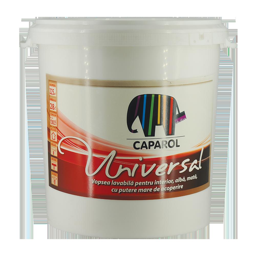 Vopsea lavabila Caparol Universal, interior, alb, 28 l