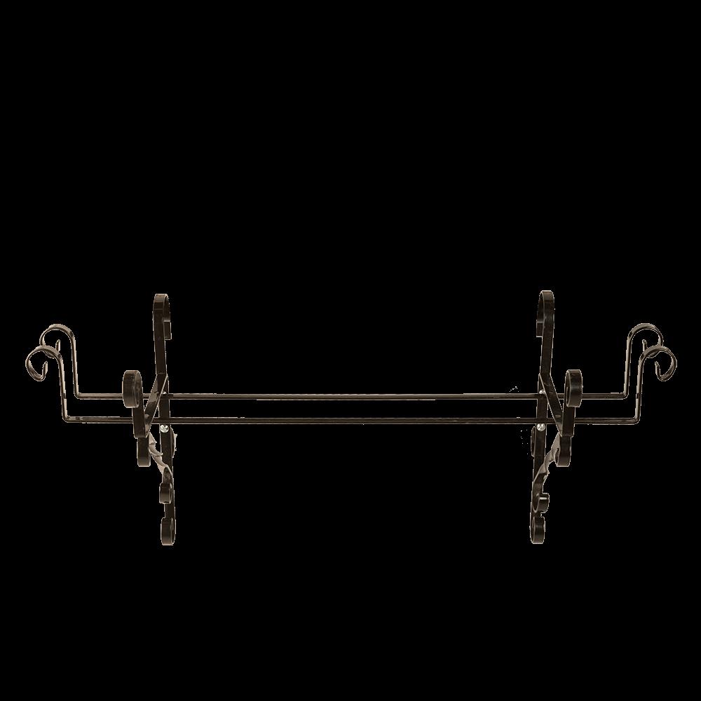 Suport jardiniera, 60 cm, fier forjat, negru, model artizanal