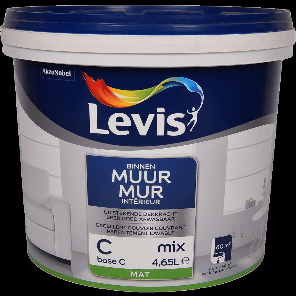 Vopsea lavabila Levis Muur Latex Base C, alb mat, 4,65 l mathaus 2021