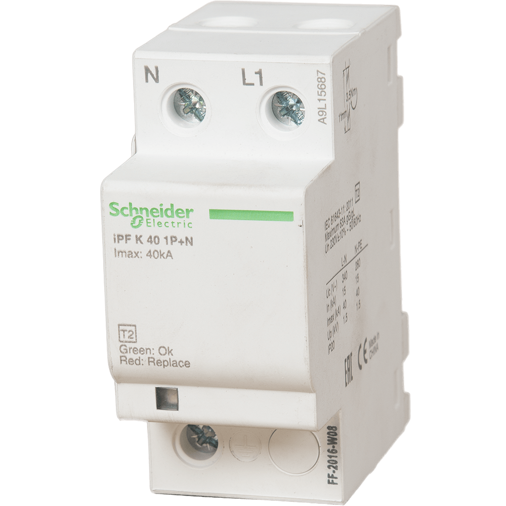 Disjunctor Schneider A9L15687 IPFK , 1P+N, led color mathaus 2021