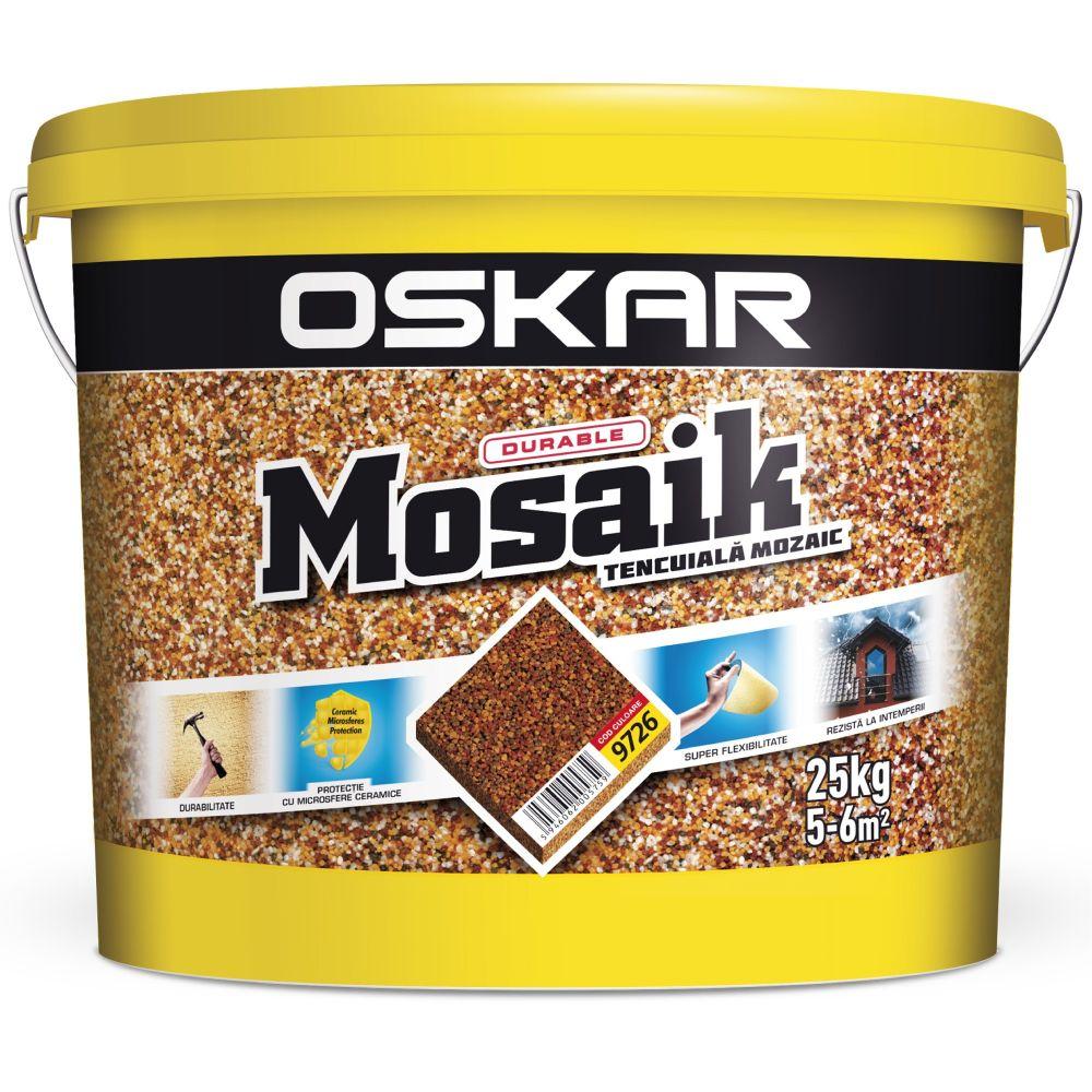 Tencuiala decorativa Oskar Mosaik, 9726, interior/exterior, 25 kg