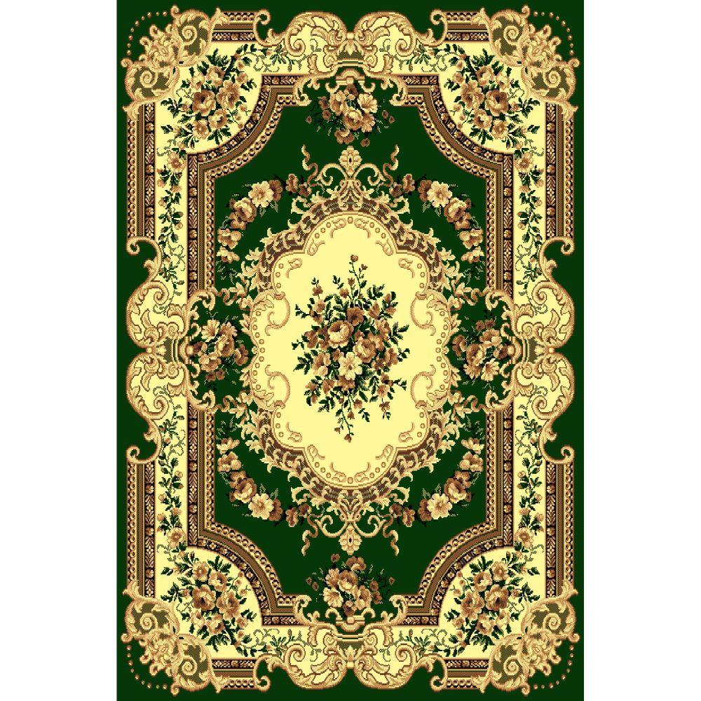 Covor clasic Gold 047/32, polipropilena BCF, verde-bej, 140 x 200 cm imagine MatHaus
