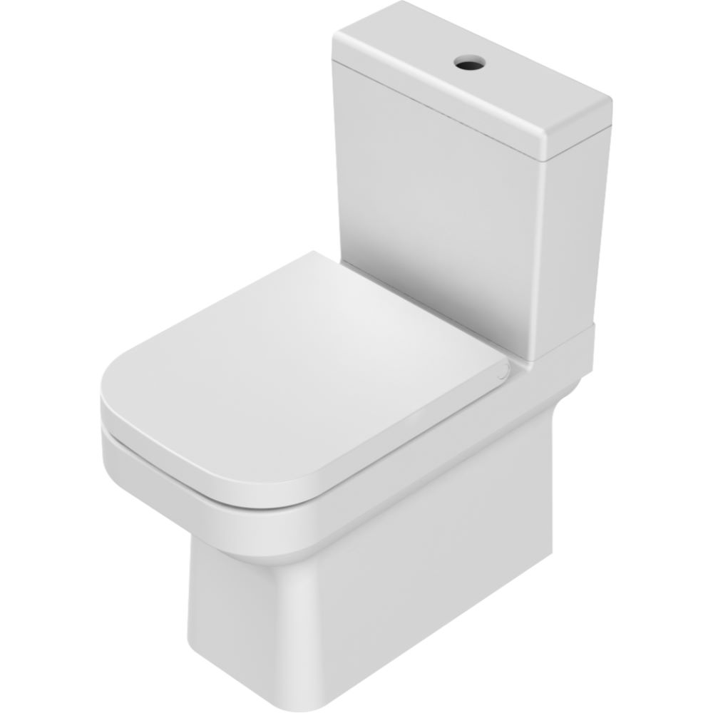 Set WC Menuet Noura 7T007, oval, ceramica sanitara, alb mathaus 2021