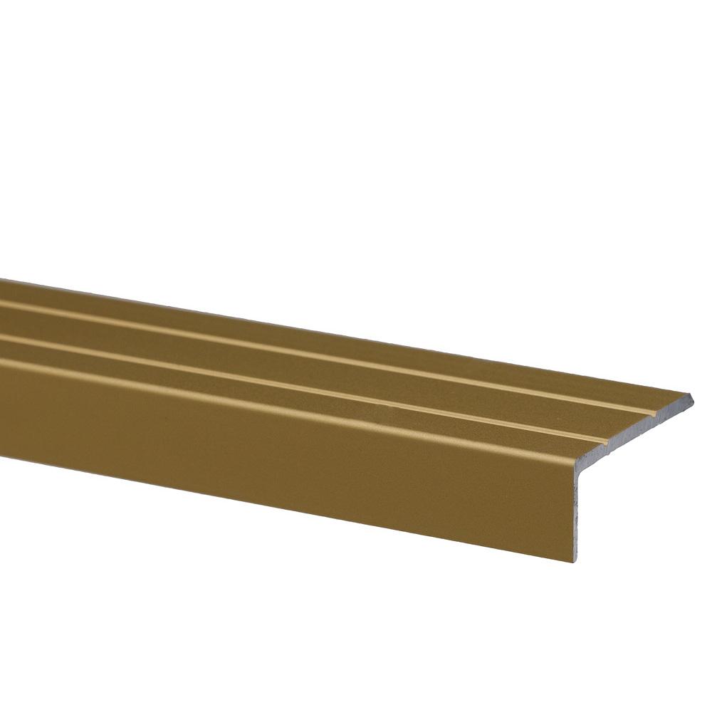 Profil pentru treapta cu surub Set Prod S46 cu latime 25 mm, auriu, 3 m imagine 2021 mathaus