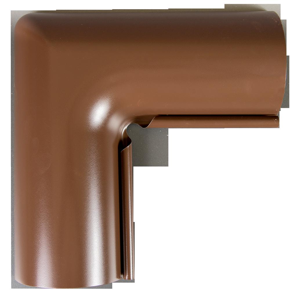 Coltar interior jgheab, metalic, 125 mm, maro RAL 8017