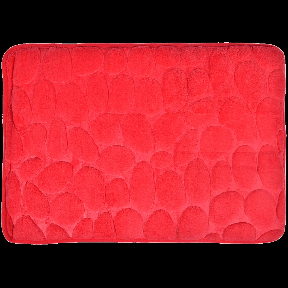 Covoras de baie, microfibra 100%, rosu, 40 x 60 cm
