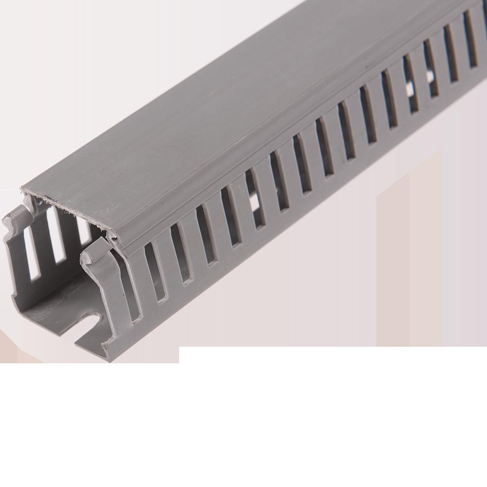 Canal de cablu slitat, semirotund, 2000 x 40 x 40 mm