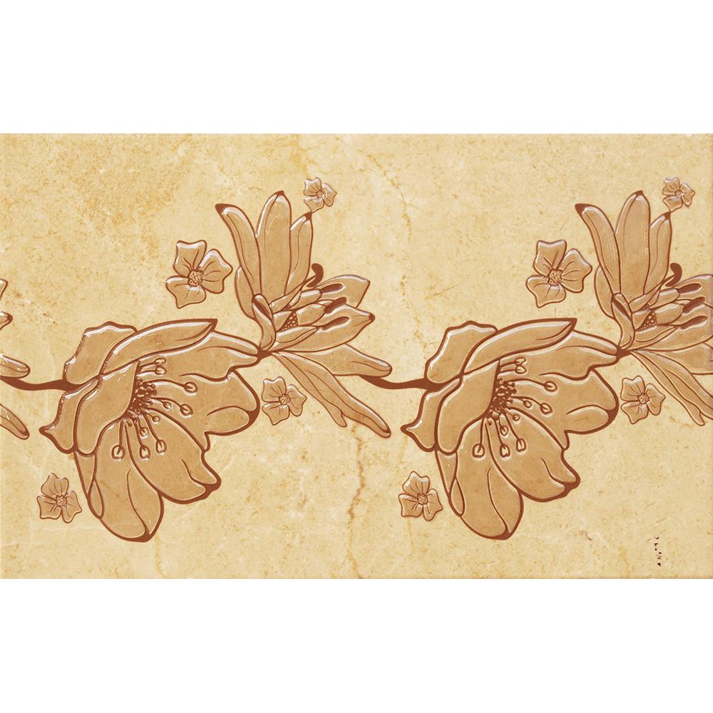Faianta decorativa Kai Ceramics Marfil, bej si maro deschis, finisaj estetic, 25 x 40 cm