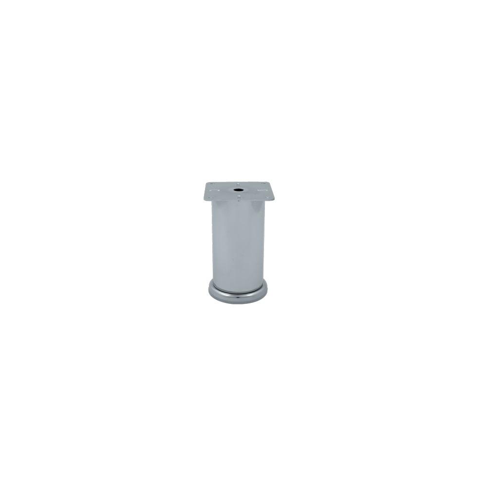 Picior mobila, metalic, baza din plastic reglabila, 60 x 150 mm imagine MatHaus.ro