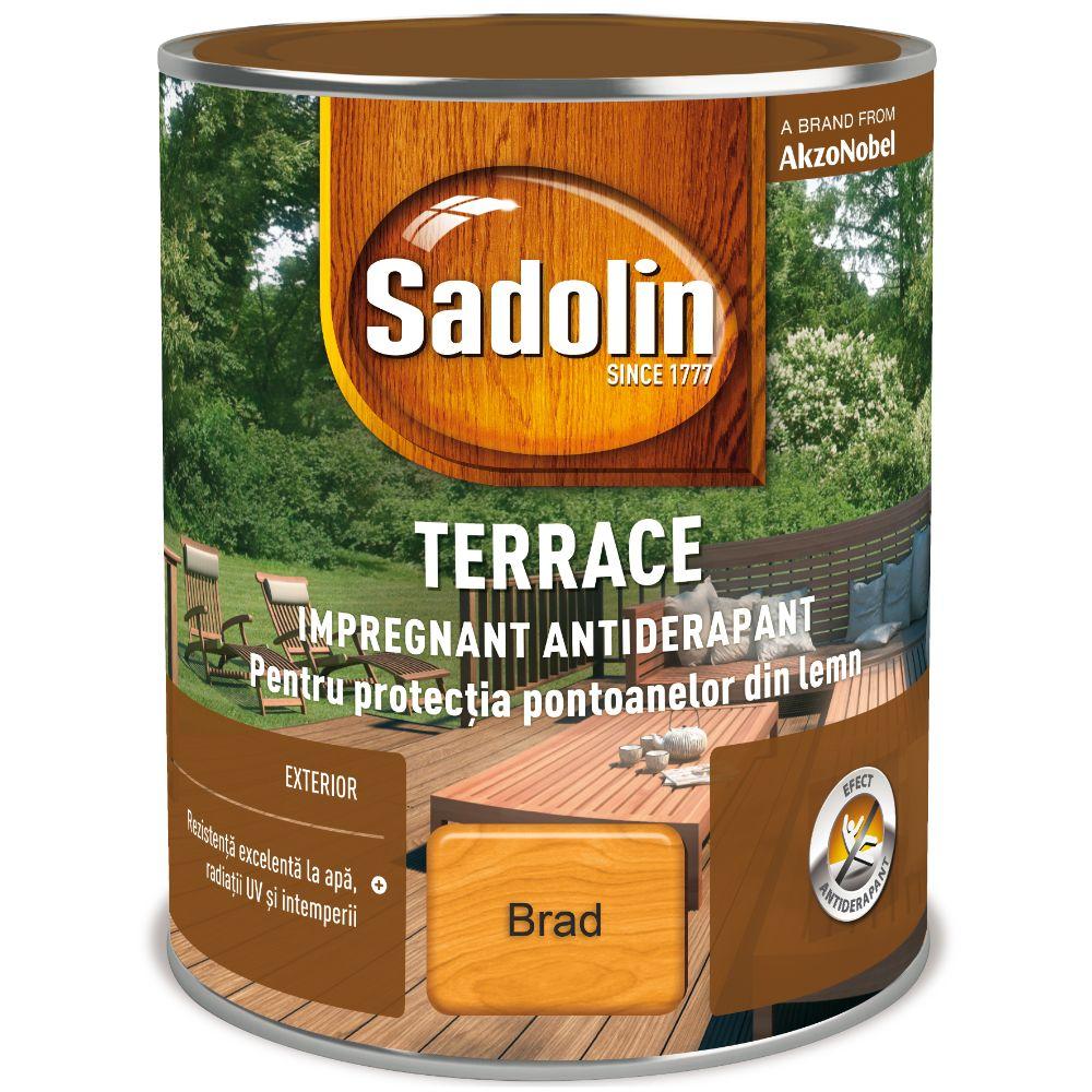 Impregnant pentru lemn, Sadolin Terrace, exterior, brad, 2,5 l