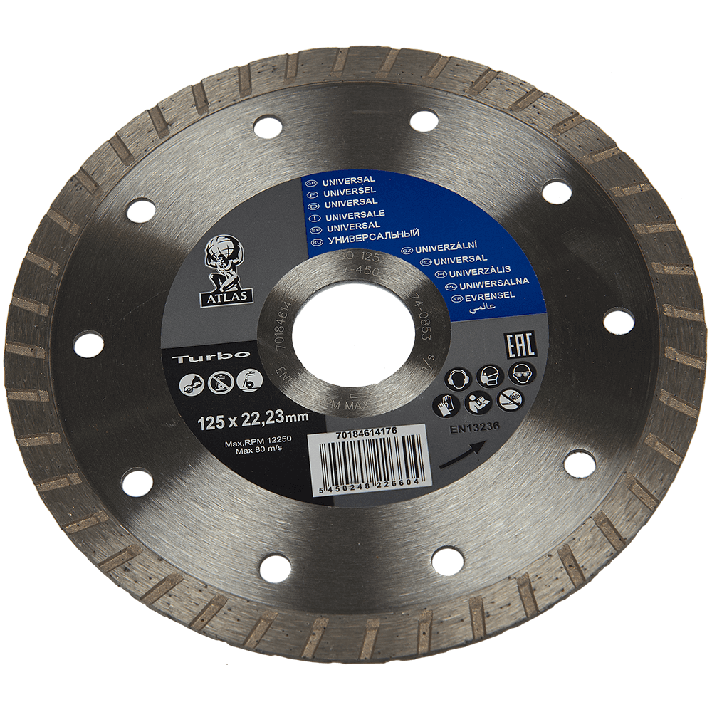 Disc diamantat turbo Atlas 125x22,23x2,2 mm mathaus 2021