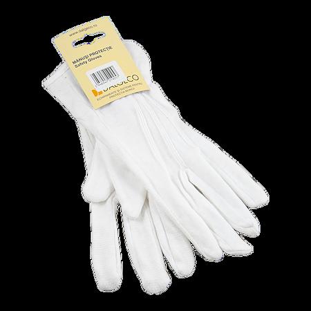 Manusi de protectie Dalgeco basic 1060, bumbac + PVC, marimea 10, alb