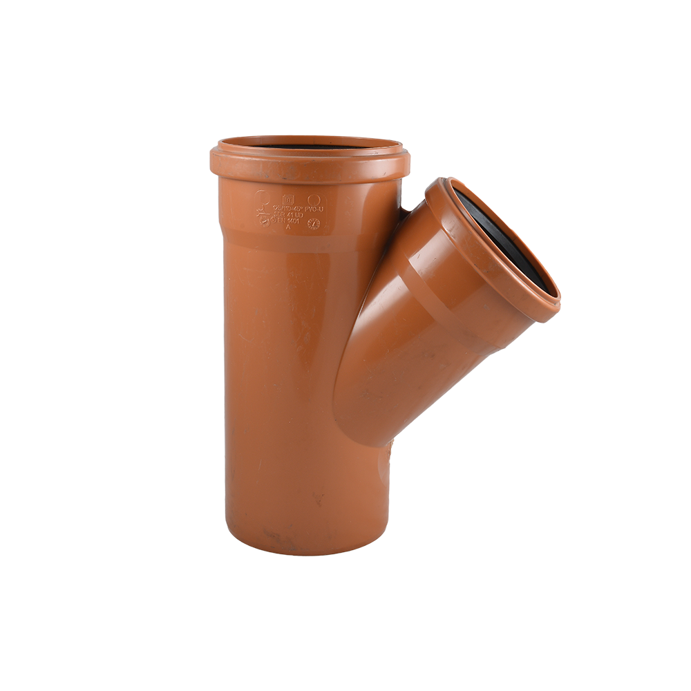 Ramificatie pentru canalizare exterioara Valplast, PVC, 125 x 125 mm, 45 grade
