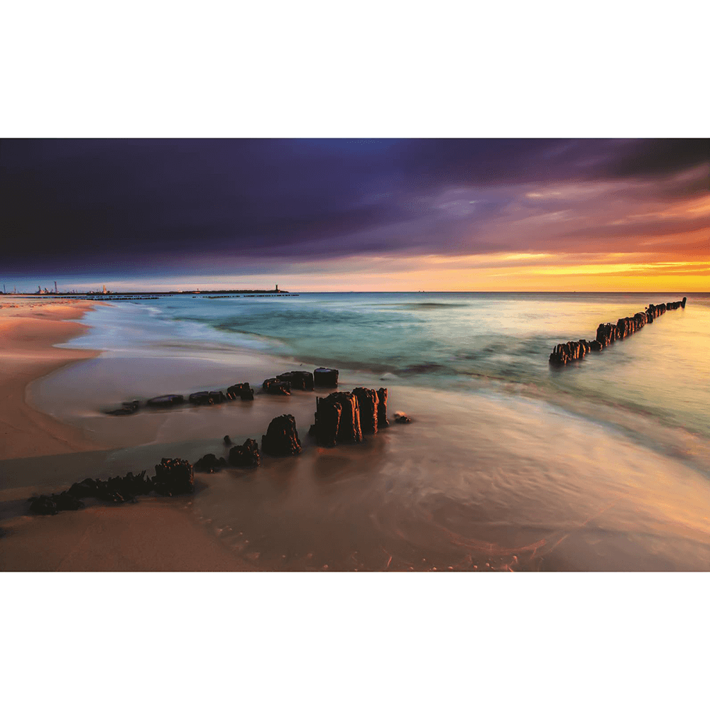 Fototapet duplex  Apus soare plaja, 368 x 254 cm