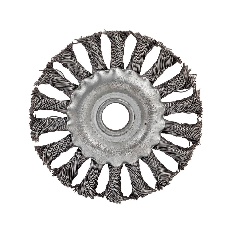 Perie circulara rotativa 200 mm(20),pentru polizor unghiular, cu peri din otel
