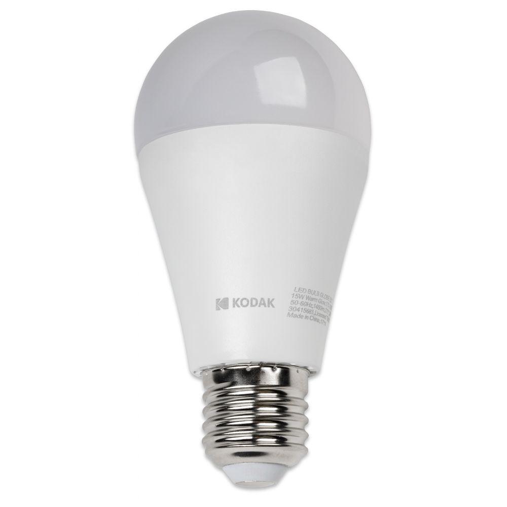 Bec LED Kodak A60, glob, E27, 15 W, 1450 lm, lumina calda 2700-3000K