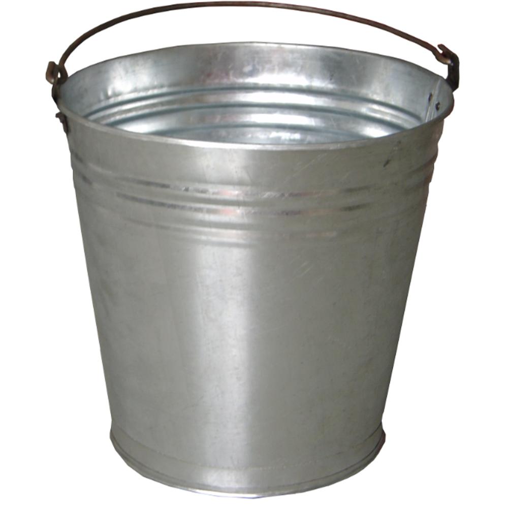Galeata din tabla zincata Evotools, gri, grosime 0,3 mm, 10 L