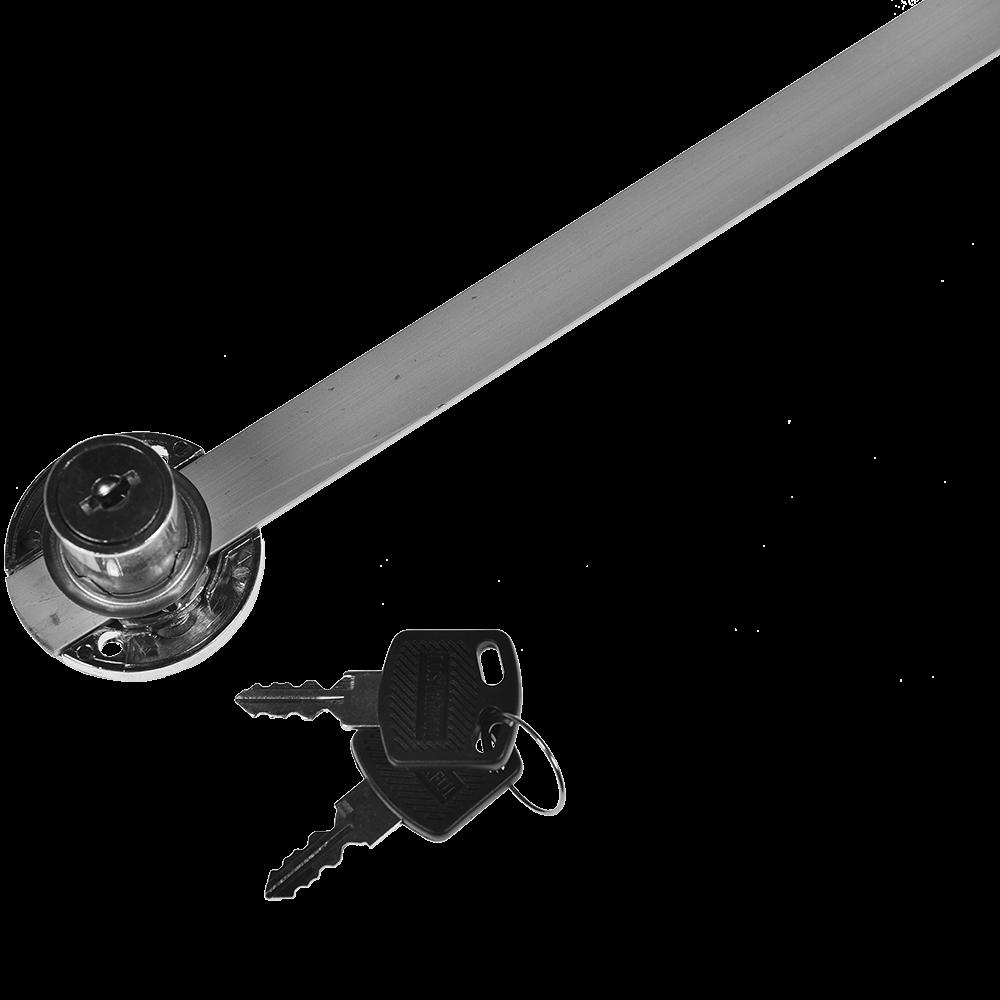 Incuietoare centralizata pentru sertare, montaj lateral, otel cromat, L 600 mm imagine 2021 mathaus