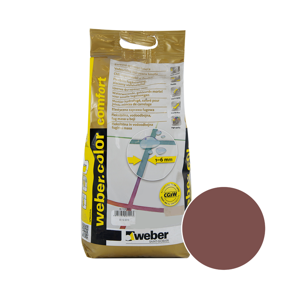 Chit de rosturi Weber Color Comfort, cacao, 5 kg imagine 2021 mathaus