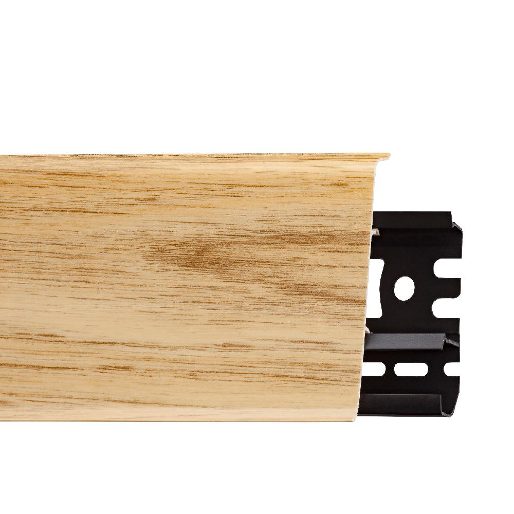 Plinta parchet, cu canal de cablu,  stejar windston, PVC, INDO 70, 2500 mm imagine MatHaus